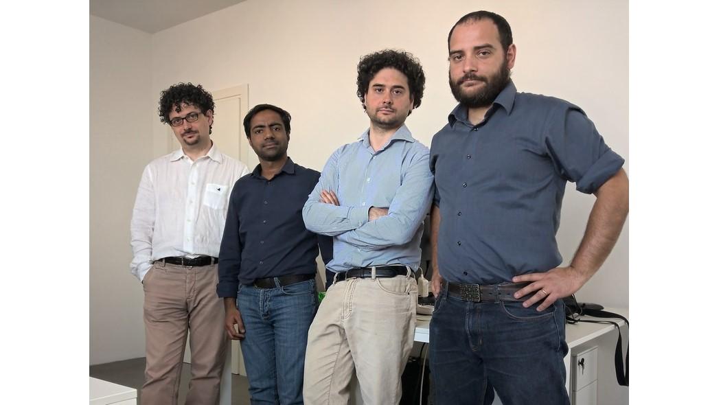 Da sinistra Maurizio Rea, co-fondatore AerariumChain; Pramod Rauniyar, Cto; Danilo Rea, Co-fondatore; Giorgio Rea, fondatore e team leader (foto ufficio stampa)