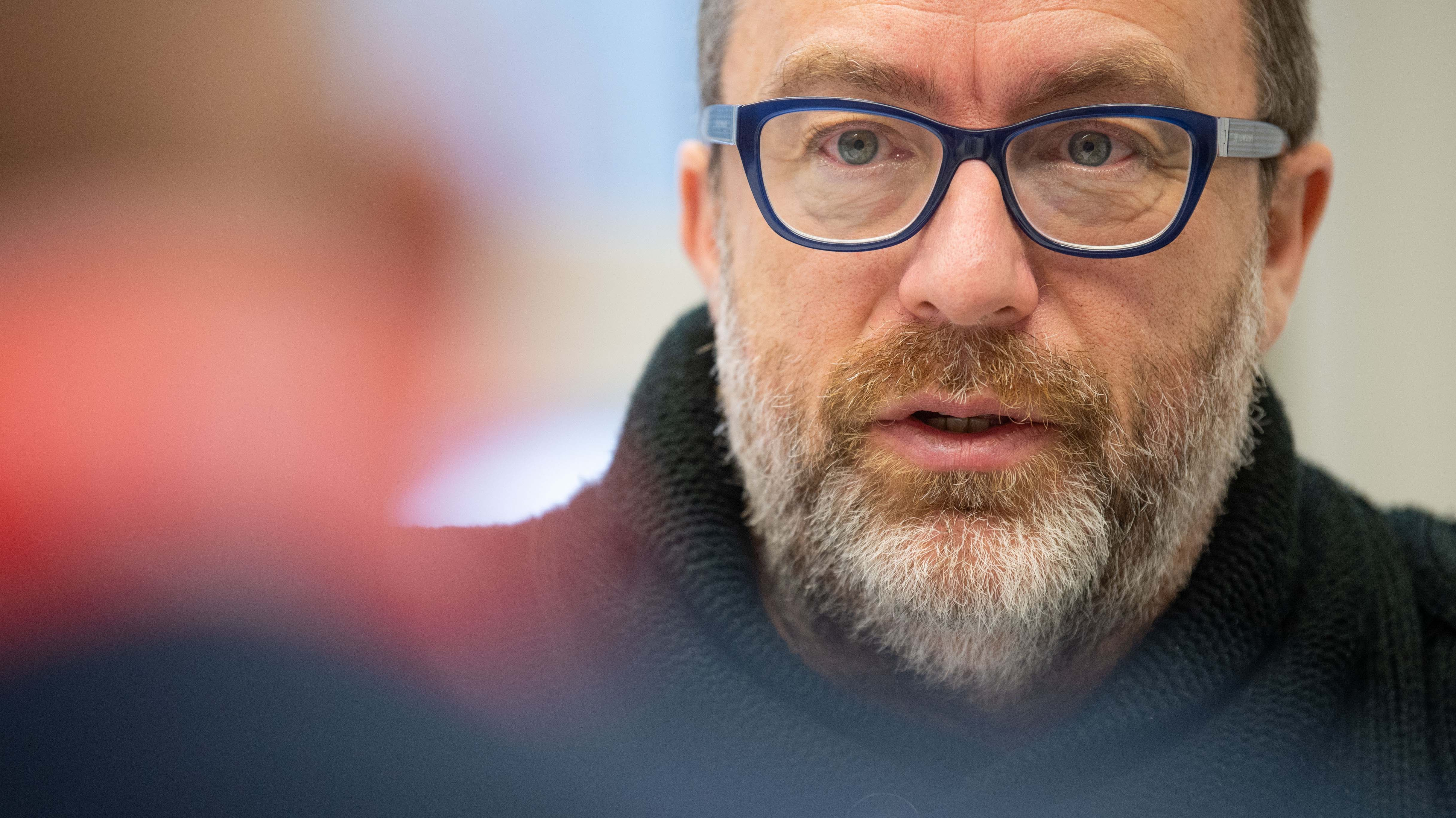 Jimmy Wales il 20 gennaio 2020 al DLD (Digital Life Design) innovation conference. (crediti immagine: Lino Mirgeler/picture alliance via Getty Images)